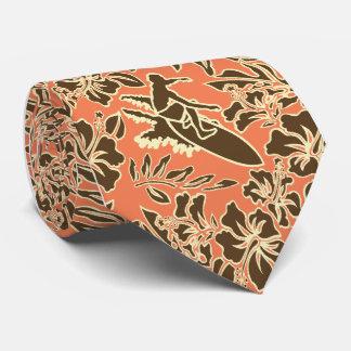 Cravates hawaïennes de ketmie de Pareau de surf