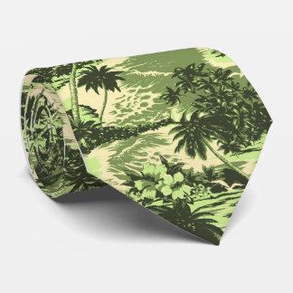 Cravates hawaïennes tropicales de baie de Napili