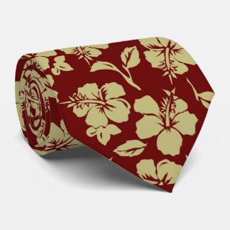 Cravates hawaïennes vintages de ketmie de Pareau