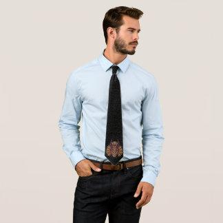 Cravates Icône tribale noire de masque de la panthère |