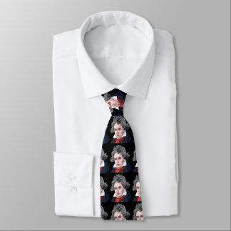 Cravates Illustration de portrait de Beethoven