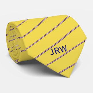Cravates Jaune, rose, et bleu faits sur commande de