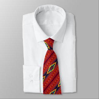 Cravates Jaune rouge d'Africain de Kente de motif abstrait