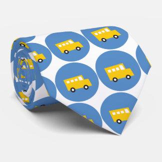 Cravates Le bleu jaune d'autobus des jouets du garçon