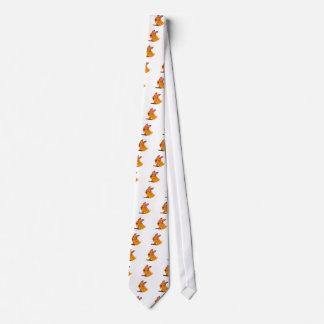 Cravates Le chiot heureux a apporté un bâton
