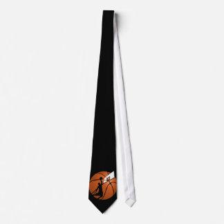 Cravates Le claquement trempent le joueur de basket w/Hoop