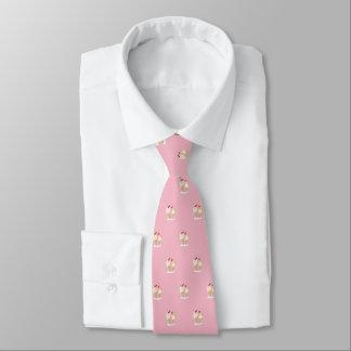 Cravates Le heureux crème (pâlissez - le rose)