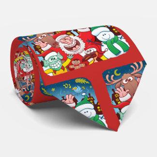 Cravates Le père noël et son équipe sont prêts pour Noël