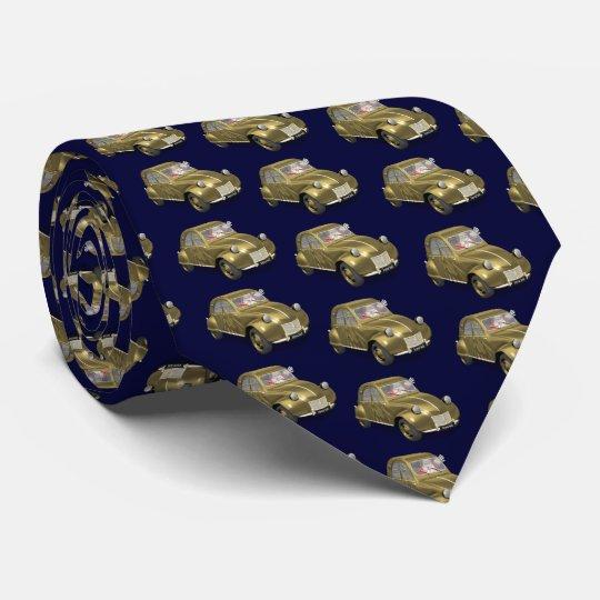 Cravates Le père noël gai conduit Citroen 2CV