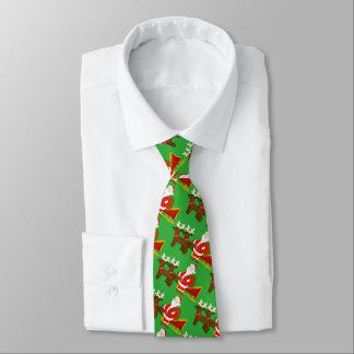 Cravates le père noël sur le traîneau de Noël