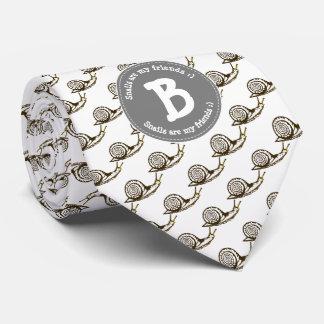 Cravates Les escargots sont mon monogramme d'amis