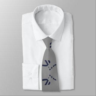Cravates Lignes propres de gris et de bleu marine