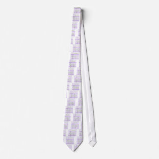 Cravates Lis de Pâques sur le guingan de lavande et le joli