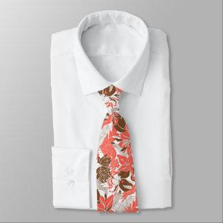 Cravates Lis tropical et Protea d'Hawaï de découpe floraux