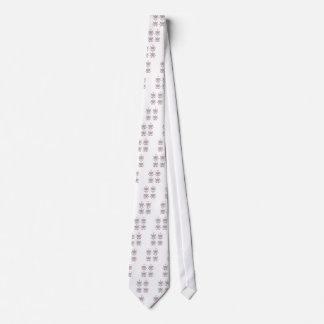 Cravates Lotus gris sur le blanc