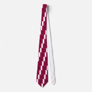 Cravates Lotus sur le rouge