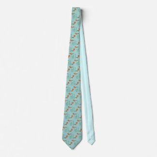 Cravates Loutres nageant