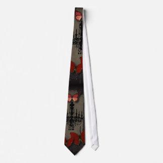 Cravates lustre de cru de Paris de papillon de goth de
