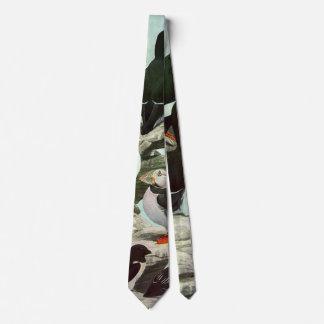Cravates Macareux vintages, oiseau aquatique, animaux
