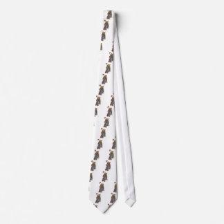 Cravates Madame avec une fan