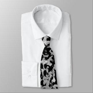 Cravates Magie abstraite - noir argenté