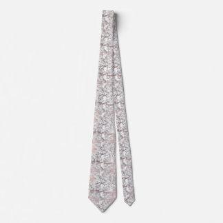 Cravates Marbre moderne d'or rose blanc élégant de faux