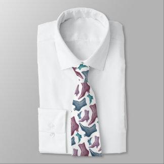 Cravates Mode vintage drôle des bottes victoriennes des
