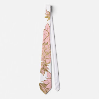 Cravates Modernes Girly rougissent or blanc rose floral