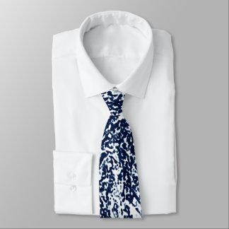 Cravates Motif abstrait bleu-foncé frais