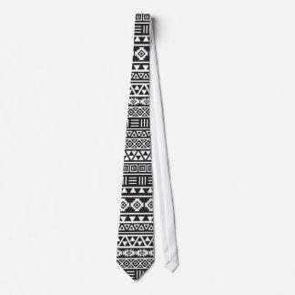 Cravates Motif aztèque de répétition de style - monochrome