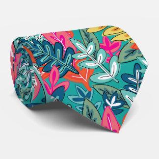 Cravates Motif coloré urbain de feuillage de jungle