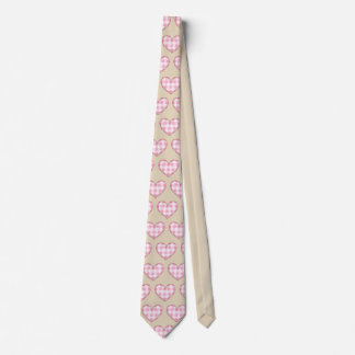 Cravates Motif de coeur de plaid