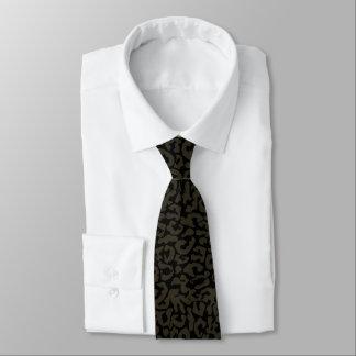 Cravates Motif de panthère de la panthère noire | Erik