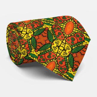 Cravates Motif de papillon vert jaune-orange