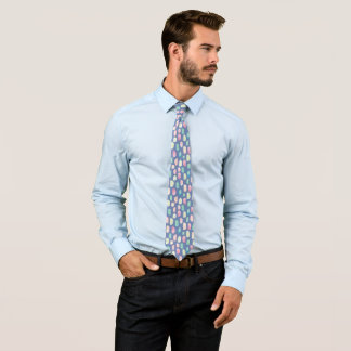 Cravates Motif de rayures de brosse de couleurs en pastel