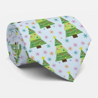 Cravates Motif de répétition d'arbres et de flocons de