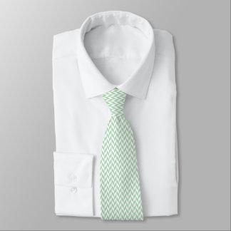Cravates Motif en arête de poisson vert en bon état