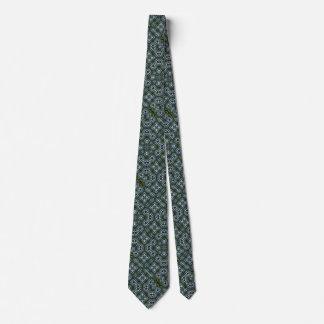 Cravates Motif magique de satin de Foulard en métal