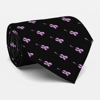 Cravates Motif pourpre de violon