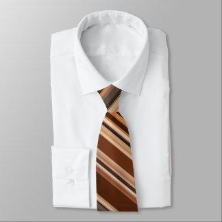 Cravates Motif rayé de Brown/chocolat/café