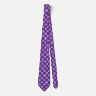 Cravates Noël blanc pourpre de vacances d'hiver de flocons