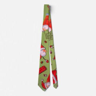 Cravates Noël heureux Père Noël