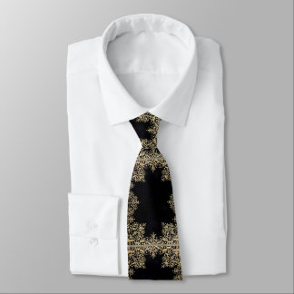 Cravates Noir et or de Falln en filigrane