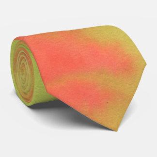 Cravates Nuances verticales d'orange et de vert clair