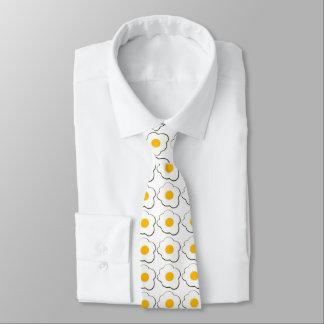 Cravates Oeufs au plat drôles pour le petit déjeuner