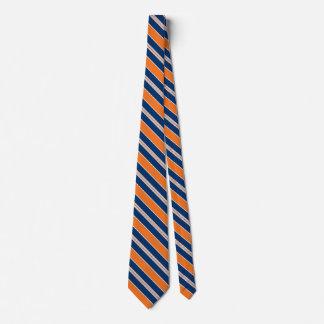 Cravates oranges et bleues rayées pour les hommes