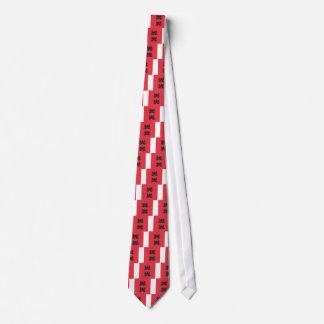 Cravates Ornement noir rouge de Lotus