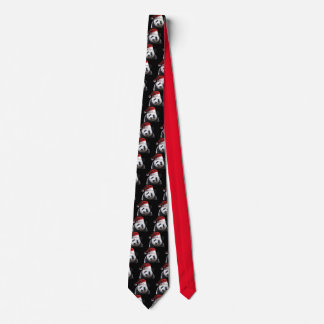 Cravates Ours panda utilisant un casquette du père noël