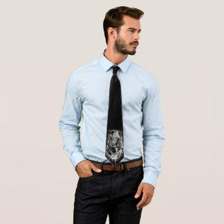 Cravates Panthère noire croquis principal noir et blanc de