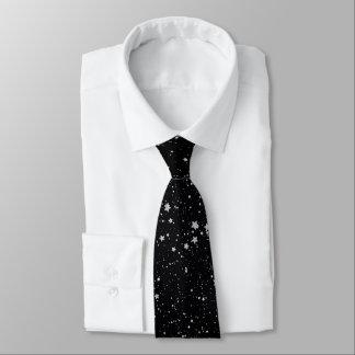Cravates Parties scintillantes Stars2 - Noir argenté